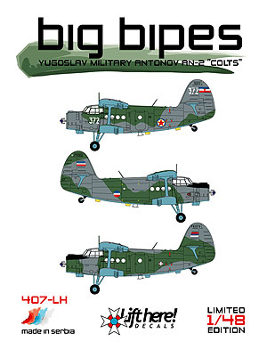"407-LH, ""Big Bipes"", Yugoslav Antonov An-2 ""Colts"" , 1/48"